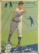 1934 Goudey #71 Lyle Tinning RC