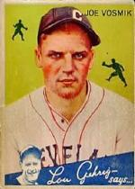 1934 Goudey #77 Joe Vosmik RC