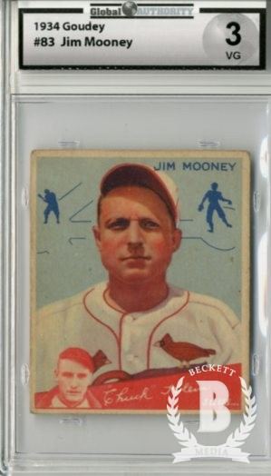 1934 Goudey #83 Jim Mooney CK RC front image