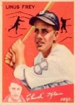 1934 Goudey #89 Linus Frey CK RC