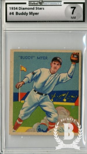 1934-36 Diamond Stars #4 Buddy Myer/34G, 35G, 36B