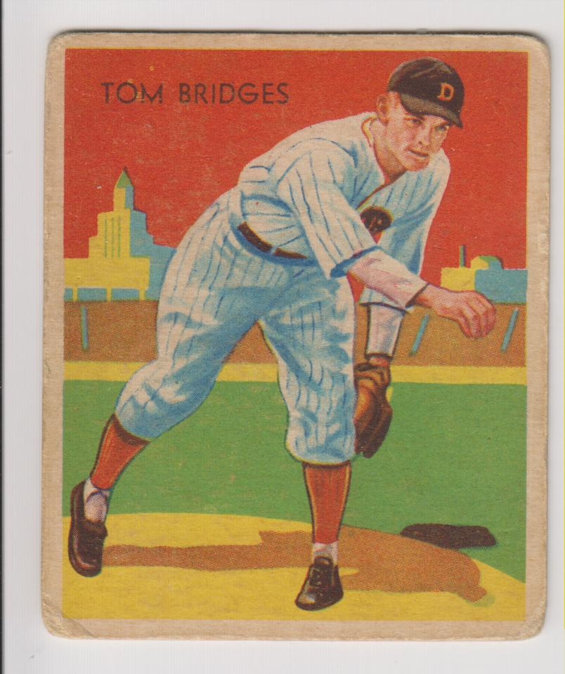1934-36 Diamond Stars #5 Tommy Bridges/34G, 35G, 36B