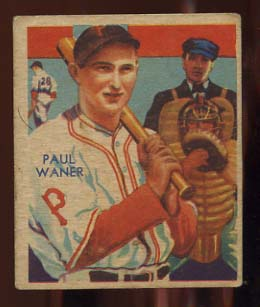 1934-36 Diamond Stars #83 Paul Waner/35G, 35B, 36B