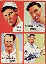 1935 Goudey 4-in-1 #24-1 Tony Piet/Adam Comorosky/Jim Bottomley/Sparky Adams/1H (Detroit Tigers Puzzle)