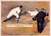 1936 R312 Pastel Photos #50 Russ Van Atta/St. Louis pitcher out at plate/Rick Ferrell/Boston, catching