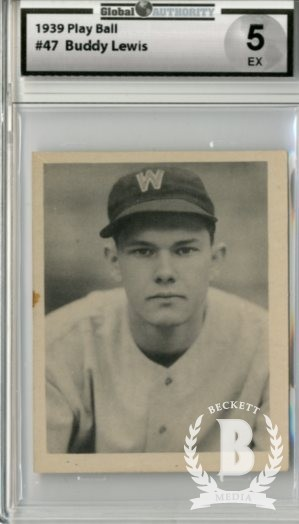 1939 Play Ball #47 Buddy Lewis RC