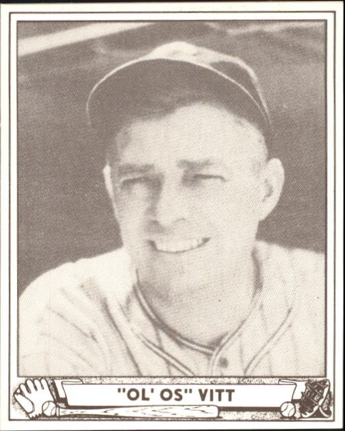 1940 Play Ball #47 Oscar Vitt RC