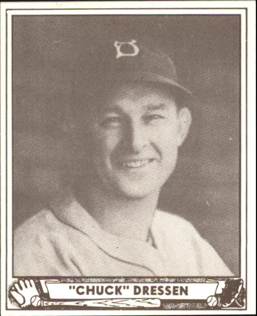 1940 Play Ball #72 Chuck Dressen RC