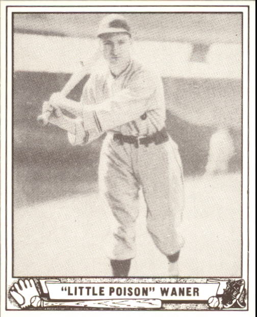 1940 Play Ball #105 Lloyd Waner front image