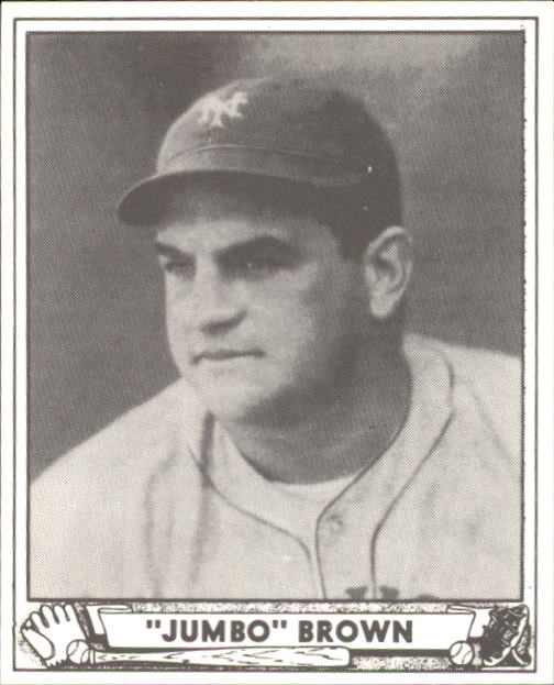 1940 Play Ball #154 Jumbo Brown