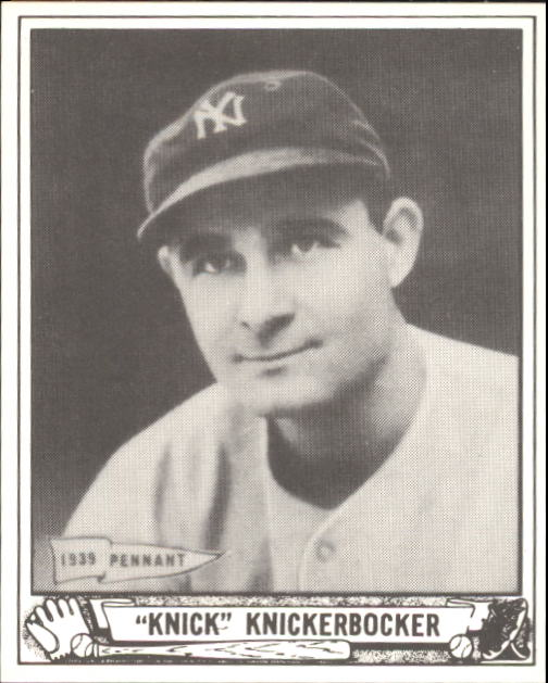 1940 Play Ball #182 Knick Knickerbocker RC