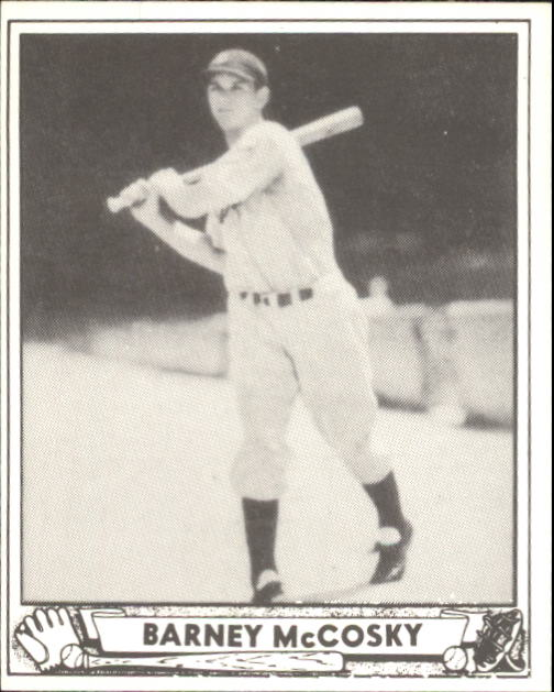 1940 Play Ball #201 Barney McCosky RC