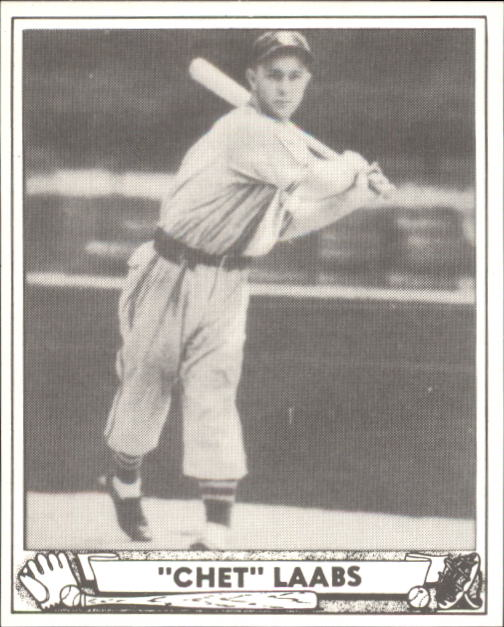 1940 Play Ball #206 Chet Laabs RC