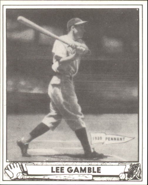 1940 Play Ball #208 Lee Gamble RC