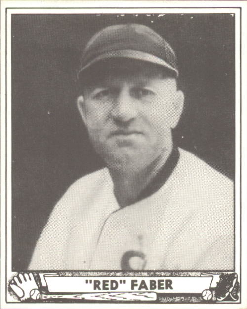 1940 Play Ball #230 Red Faber front image