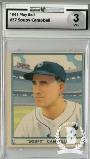 1941 Play Ball #37 Bruce Campbell RC