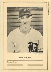 1946-49 Sports Exchange W603 #9-9 Warren Spahn
