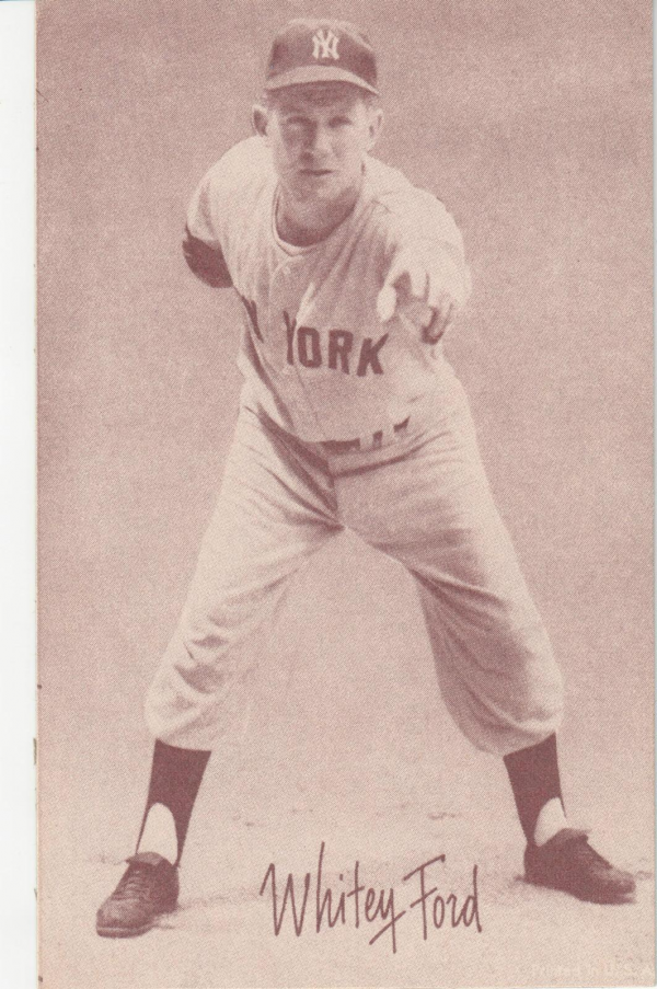 1947-66 Exhibits #73A Whitey Ford/(has been reprinted)/(no glove, throwing)