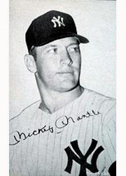1947-66 Exhibits #146D Mickey Mantle Portrait circa 1966