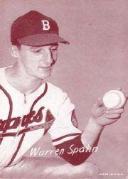1947-66 Exhibits #214A Warren Spahn/(Boston)/(has been reprinted)