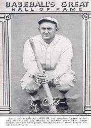 1948 Exhibit Hall of Fame #6 Ty Cobb