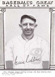 1948 Exhibit Hall of Fame #8 Eddie Collins