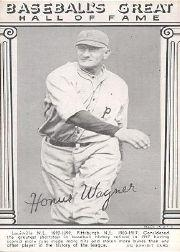 1948 Exhibit Hall of Fame #30 Honus Wagner