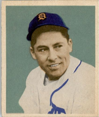 1949 Bowman #107 Eddie Lake RC