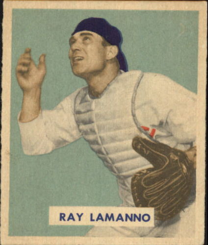 1949 Bowman #113 Ray LaManno RC