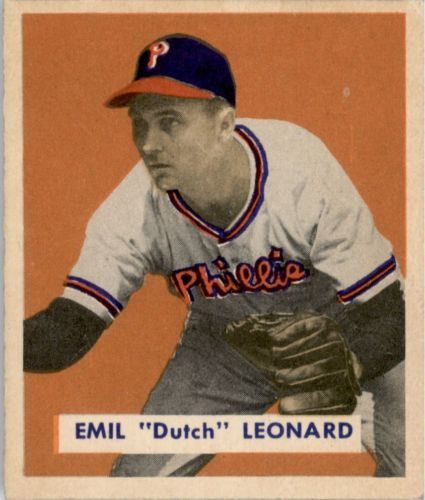 1949 Bowman #115 Dutch Leonard