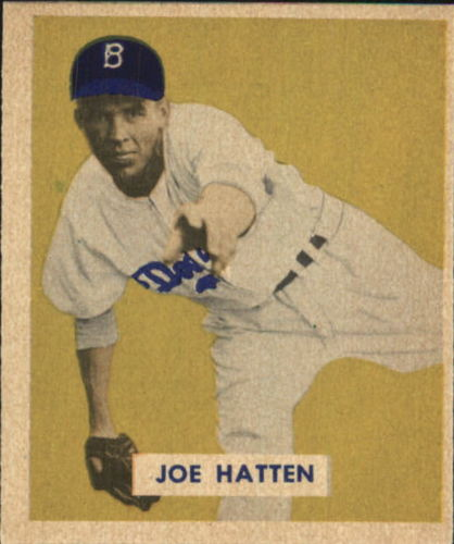 1949 Bowman #116 Joe Hatten RC