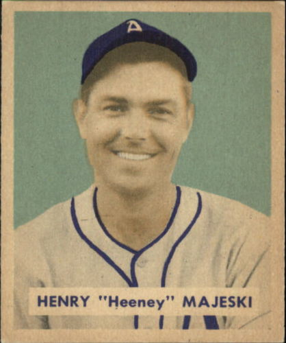 1949 Bowman #127B Hank Majeski Print(player name in print on back)