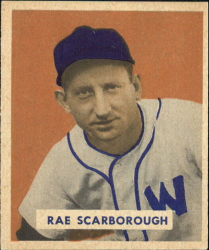 1949 Bowman #140 Ray Scarborough RC