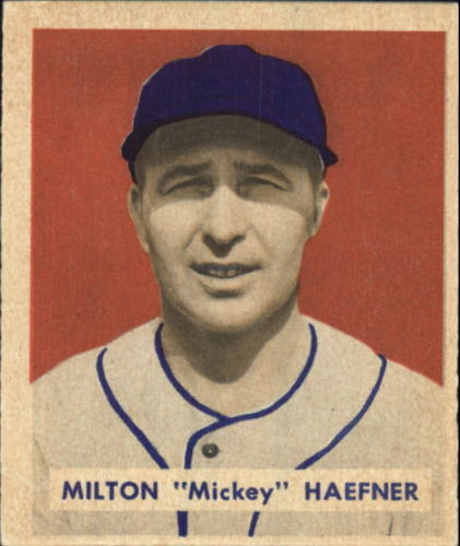 1949 Bowman #144 Mickey Haefner RC