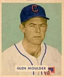 1949 Bowman #159 Glen Moulder RC