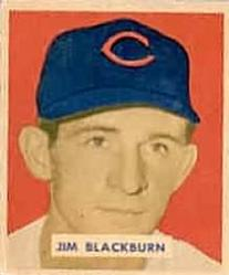1949 Bowman #160 Jim Blackburn RC