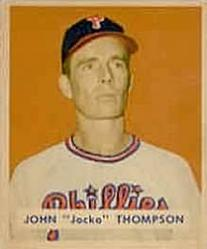 1949 Bowman #161 Jocko Thompson RC