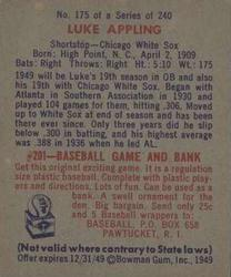 1949 Bowman #175 Luke Appling