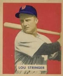 1949 Bowman #183 Lou Stringer RC