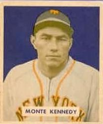 1949 Bowman #237 Monte Kennedy RC