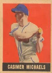 1949 Leaf #13 Cass Michaels SP RC