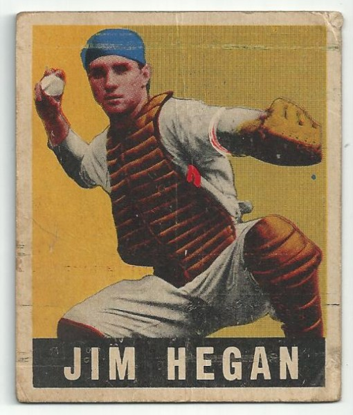 1949 Leaf #28 Jim Hegan RC