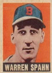 1949 Leaf #32 Warren Spahn