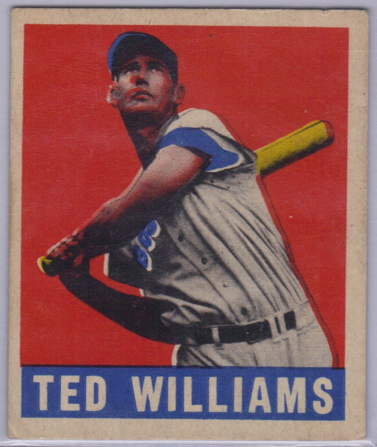 1949 Leaf #76 Ted Williams front image
