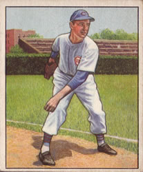 1950 Bowman #24 Johnny Schmitz
