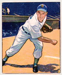 1950 Bowman #42 Art Houtteman RC