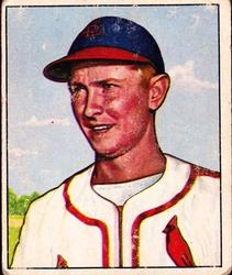 1950 Bowman #71 Red Schoendienst