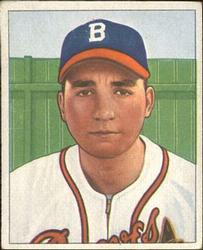 1950 Bowman #74 Johnny Antonelli RC