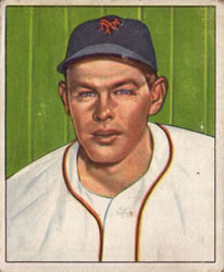 1950 Bowman #118 Clint Hartung