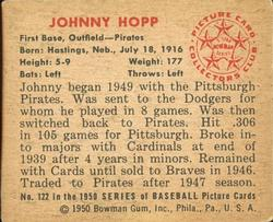 1950 Bowman #122 Johnny Hopp